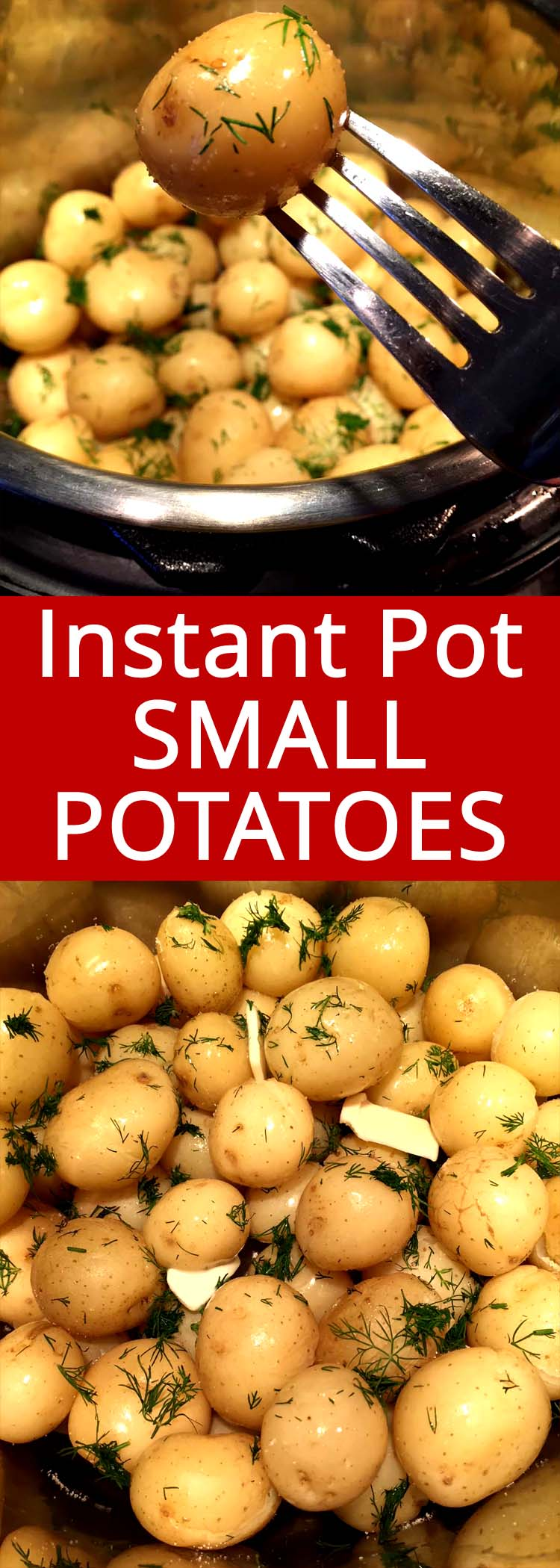 This Instant Pot small potatoes are amazing! Tender little baby potatoes, perfectly cooked in minutes!