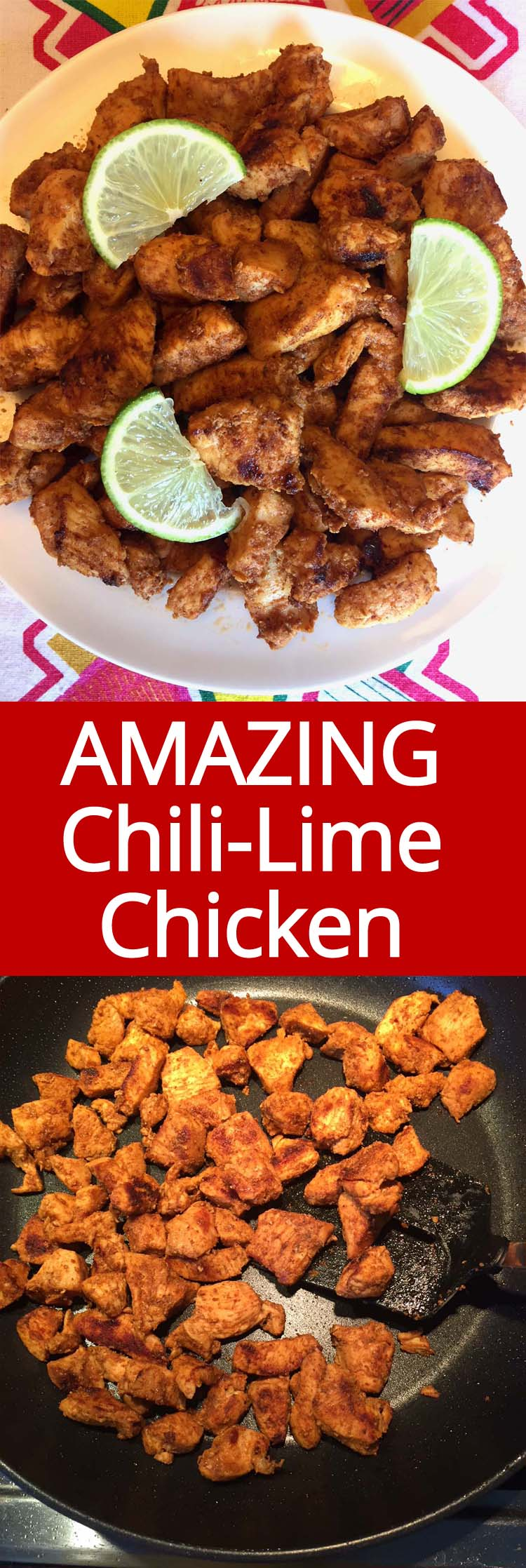 This chili lime chicken is amazing! So easy to make, healthy and full of flavor! This one is a keeper!