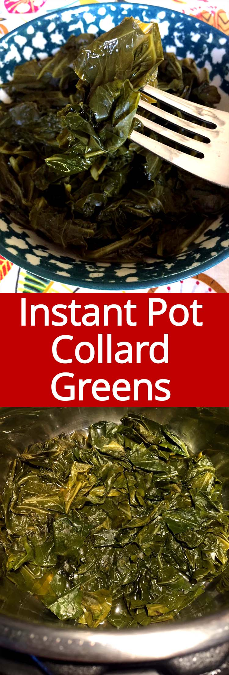These Instant Pot collard greens are mouthwatering! This is the only way I'll make collard greens for now on!