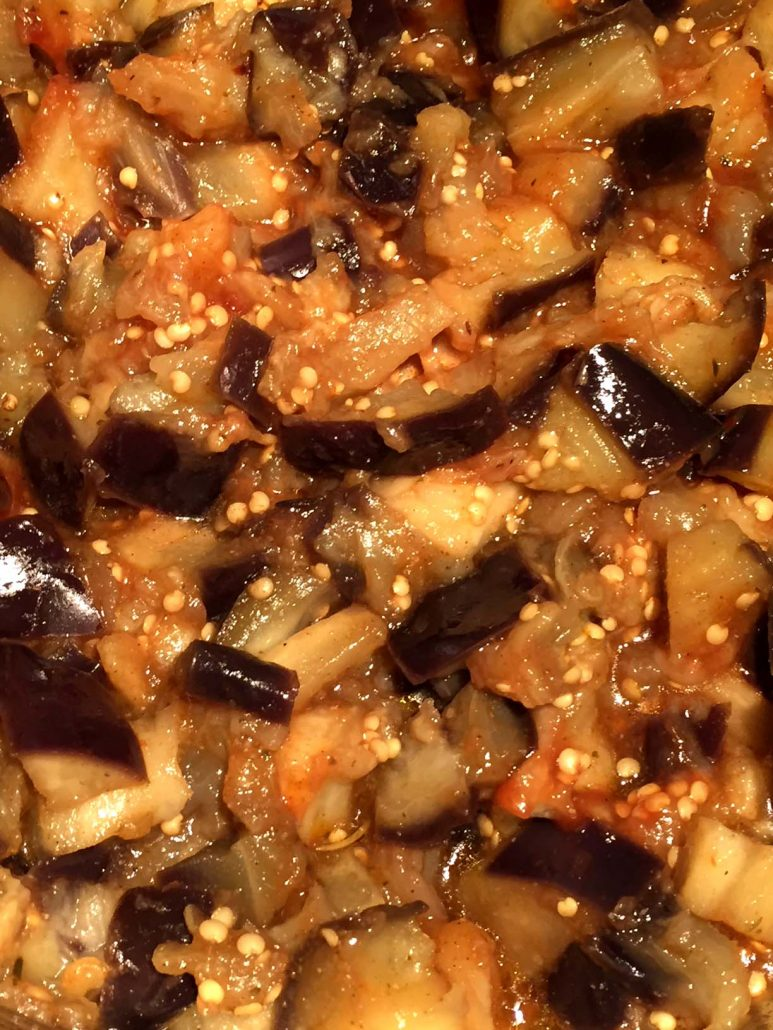 Instant Pot Garlic Eggplant