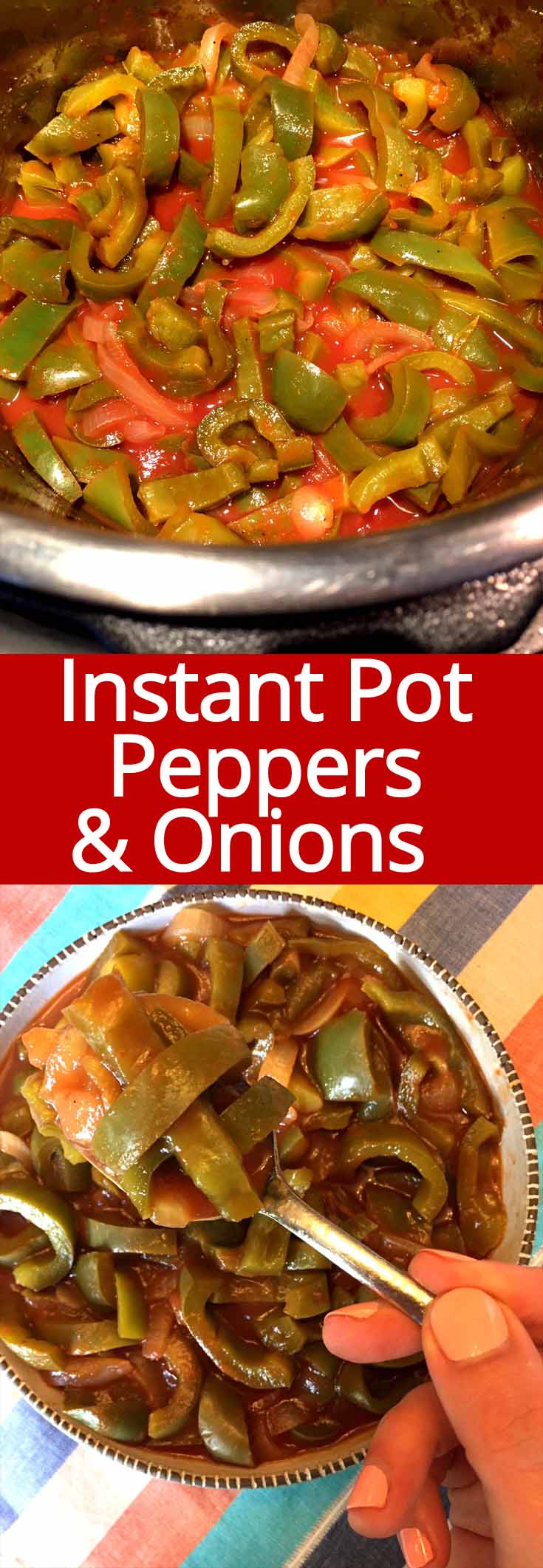 It's like having Chipotle fajitas in your Instant Pot! These Instant Pot peppers and onions are amazing!