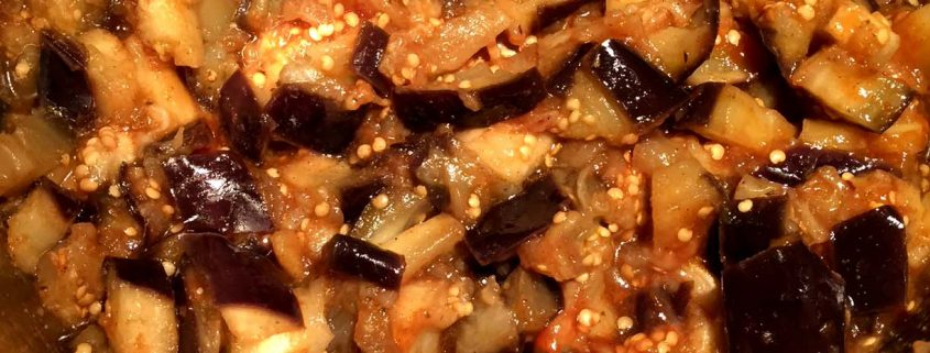 Instant Pot Spicy Garlic Eggplant