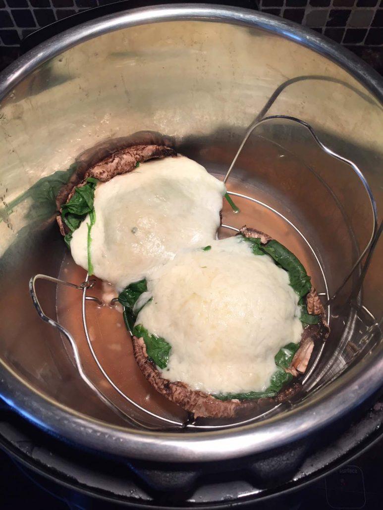 Instant Pot Portobello Mushroom Pizza