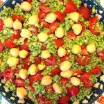 Quinoa Pesto Salad With Chickpeas and Cherry Tomatoes