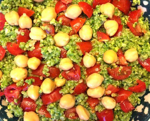 Quinoa Pesto Salad