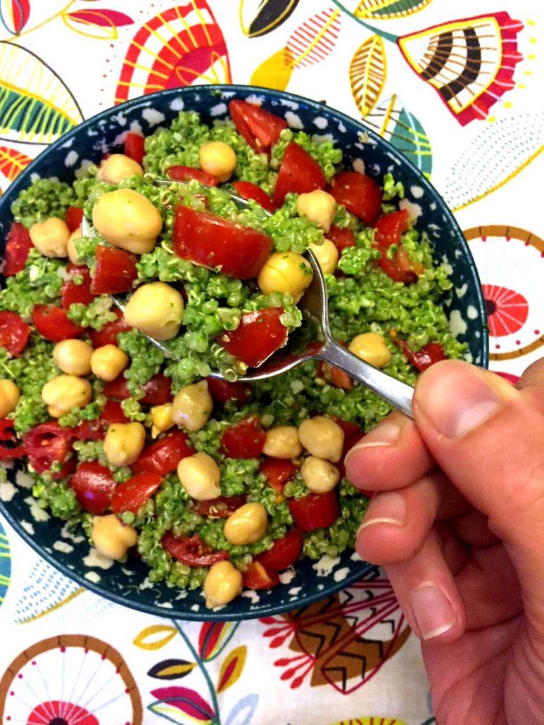 Quinoa Pesto Salad Recipe