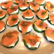 Smoked Salmon Cucumber Cream Cheese Appetizer