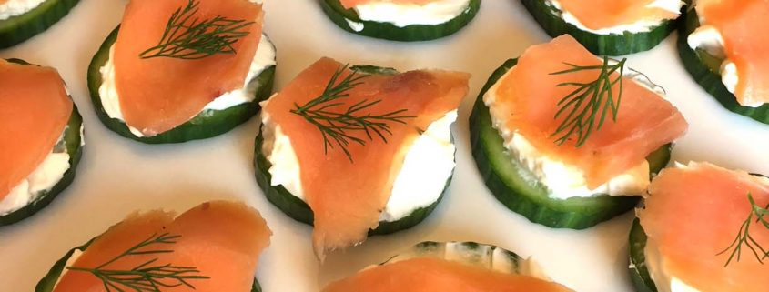 Smoked Salmon Cucumber Cream Cheese Appetizer