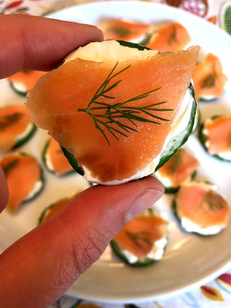 Smoked Salmon Cream Cheese Canapes