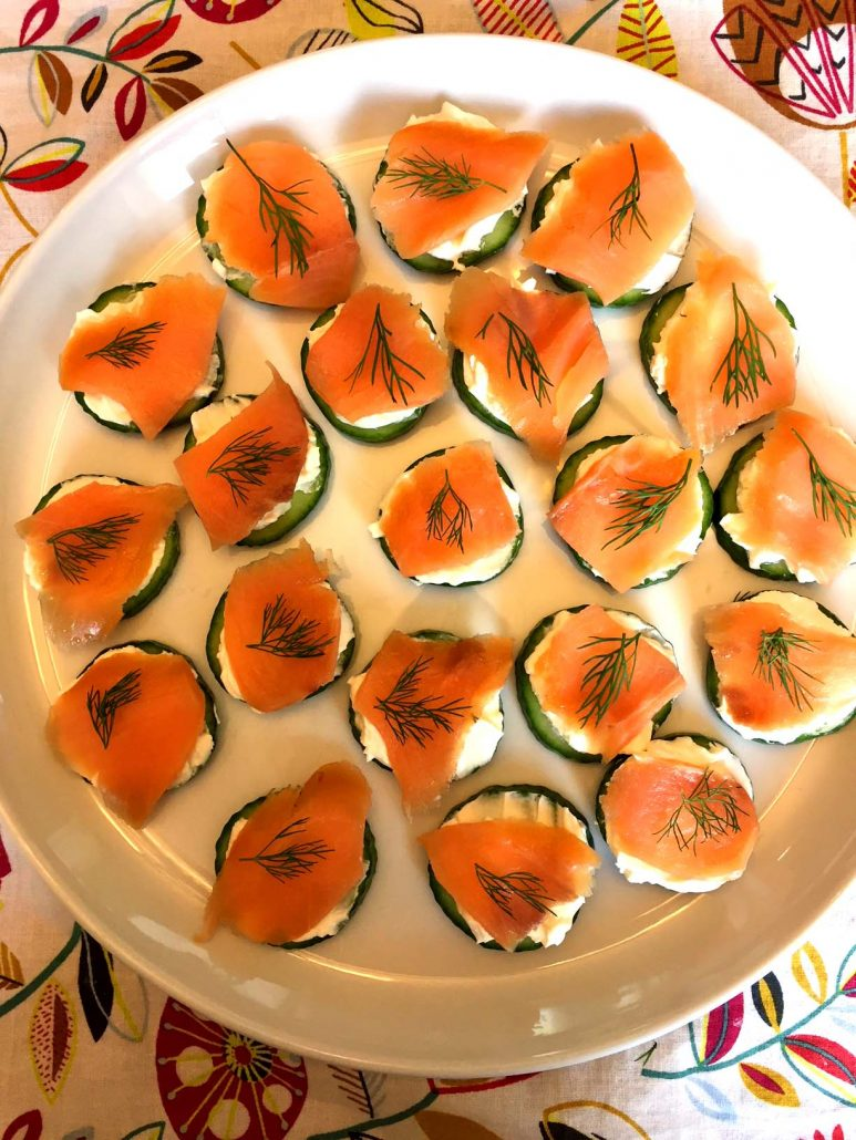 How To Make Smoked Salmon Cucumber appetizer