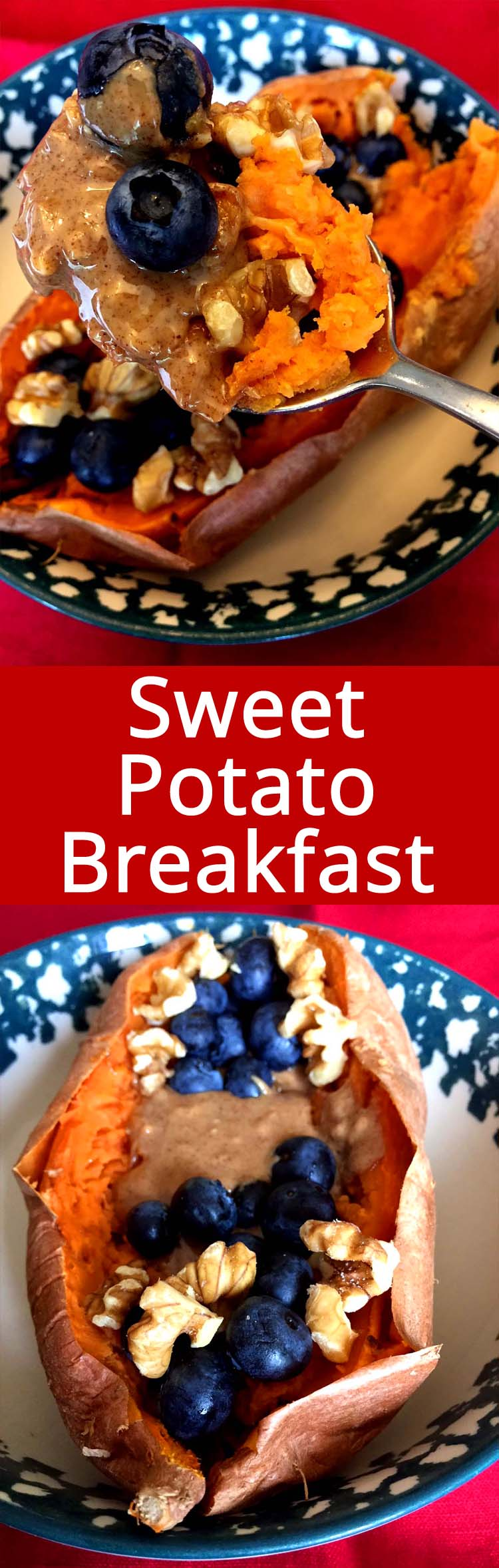 This sweet potato breakfast bowl is amazing! So healthy and delicious! All natural, unprocessed and gluten-free! What a perfect healthy paleo breakfast!