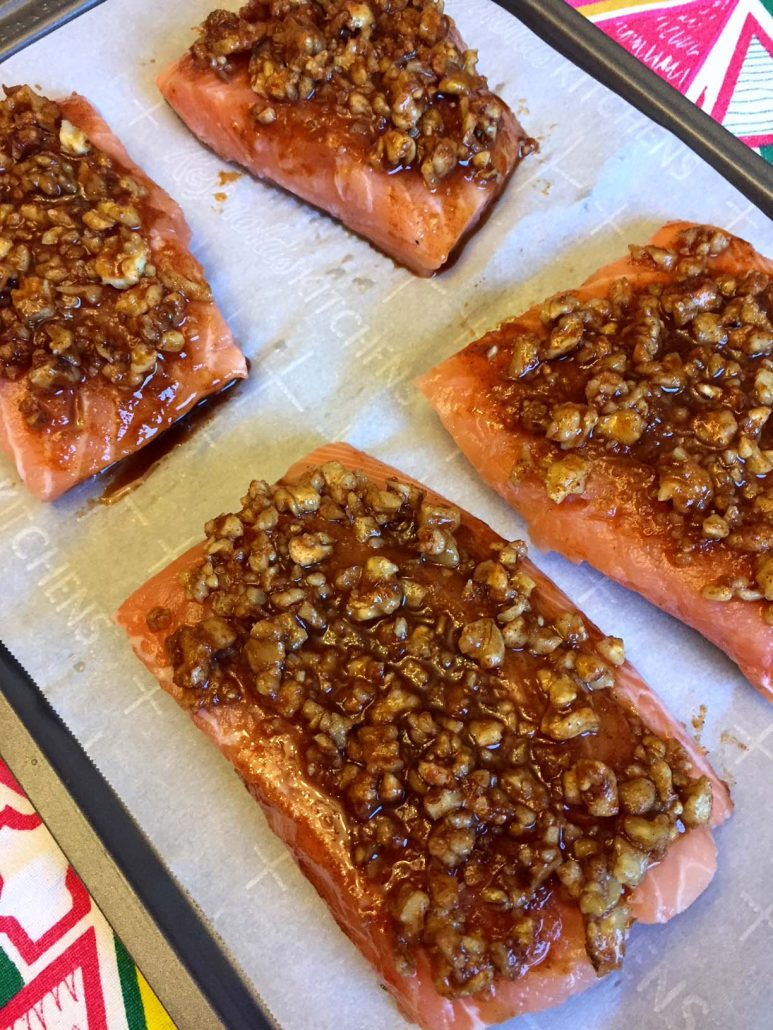 Baked Walnut Salmon