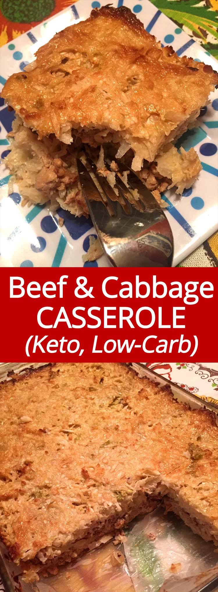 This ground beef and cabbage casserole is my new favorite keto dinner! So easy to make and so delicious!