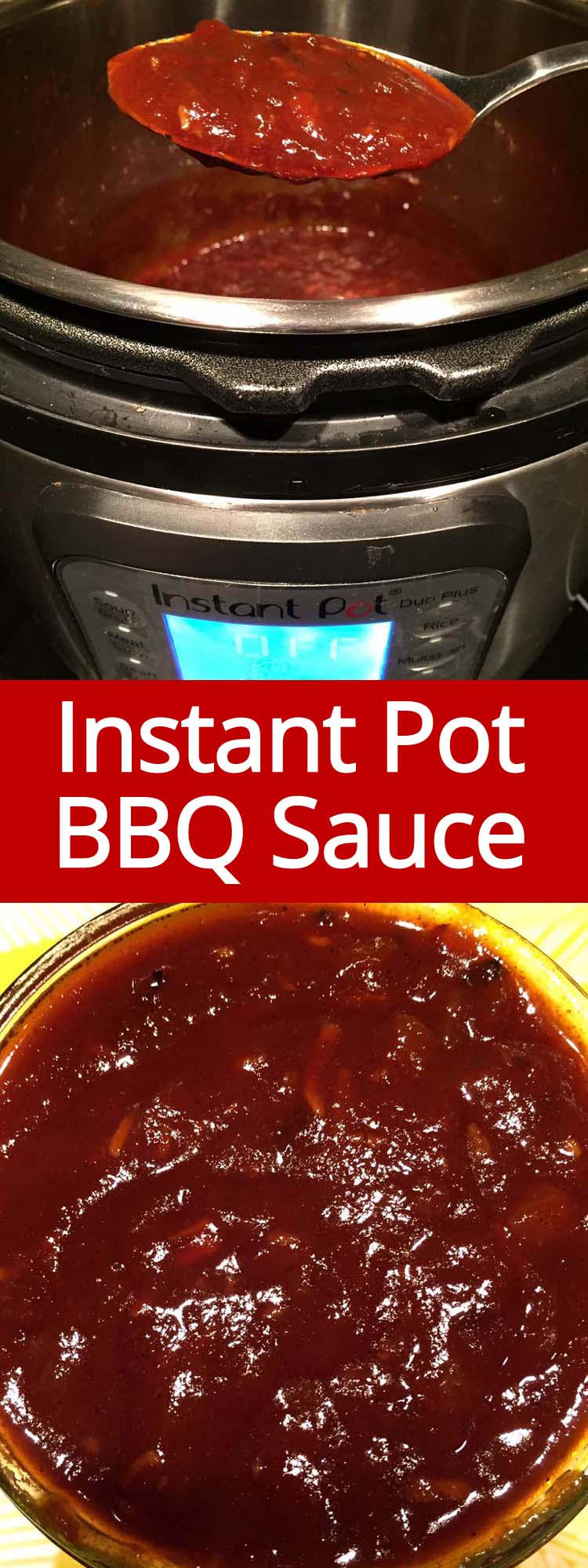 This Instant Pot BBQ sauce is amazing! Once you try homemade barbecue sauce, you'll never want to have the bottled one ever again!  It's so easy to make in the Instant Pot!