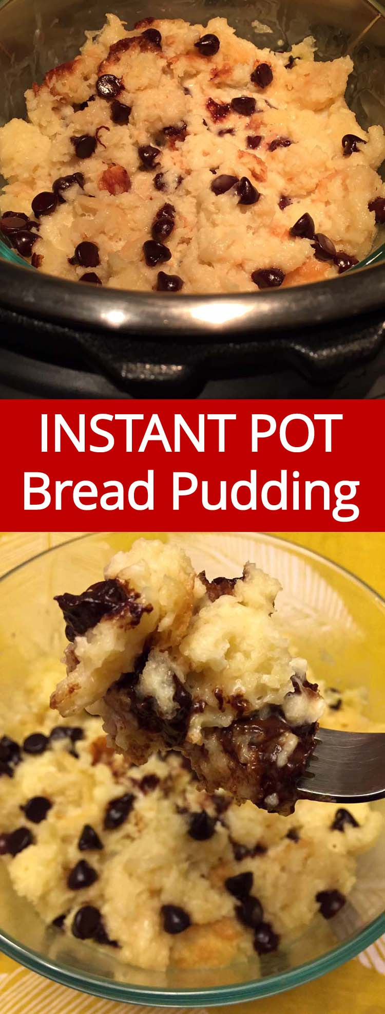 This Instant Pot bread pudding is amazing! So sweet and creamy, simply perfect! This is the only bread pudding recipe you'll ever need!