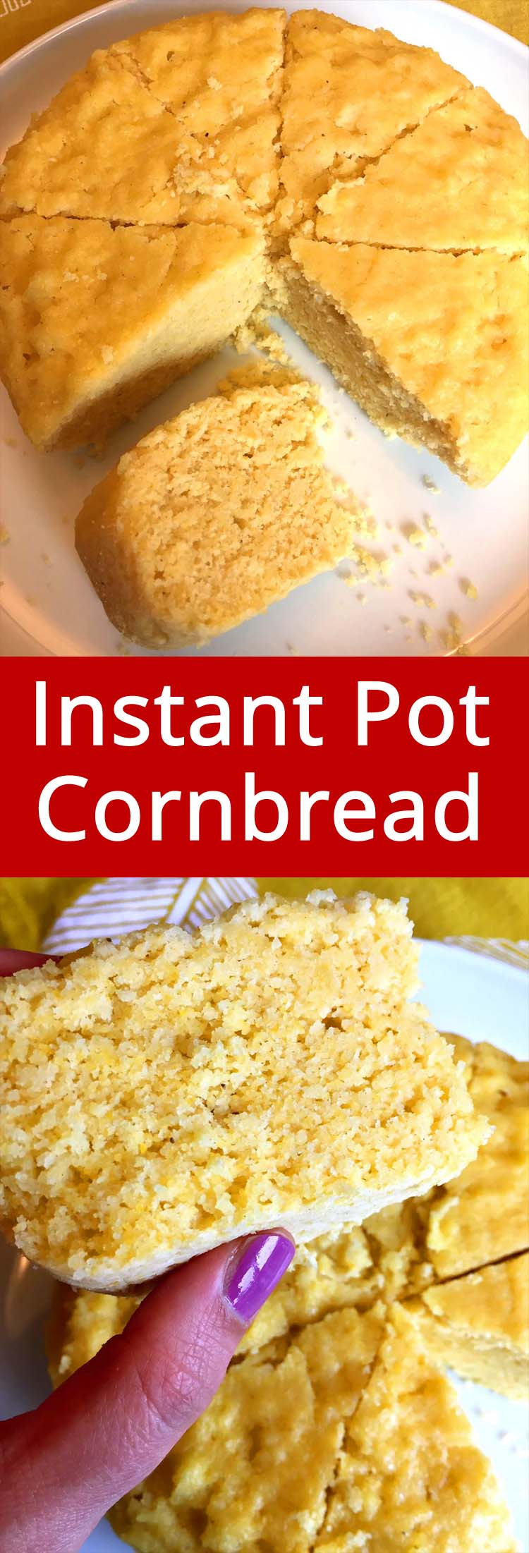 This Instant Pot cornbread is amazing! Truly the best ever! This is the only cornbread recipe you'll ever need!
