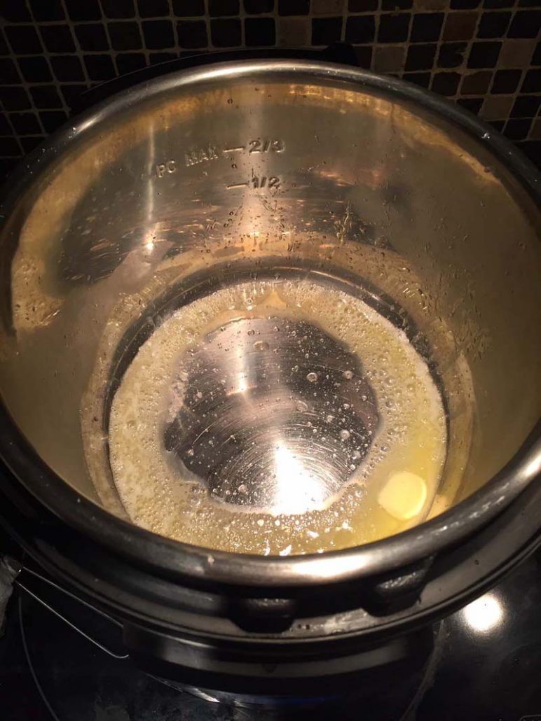 Melted butter in the Instant Pot
