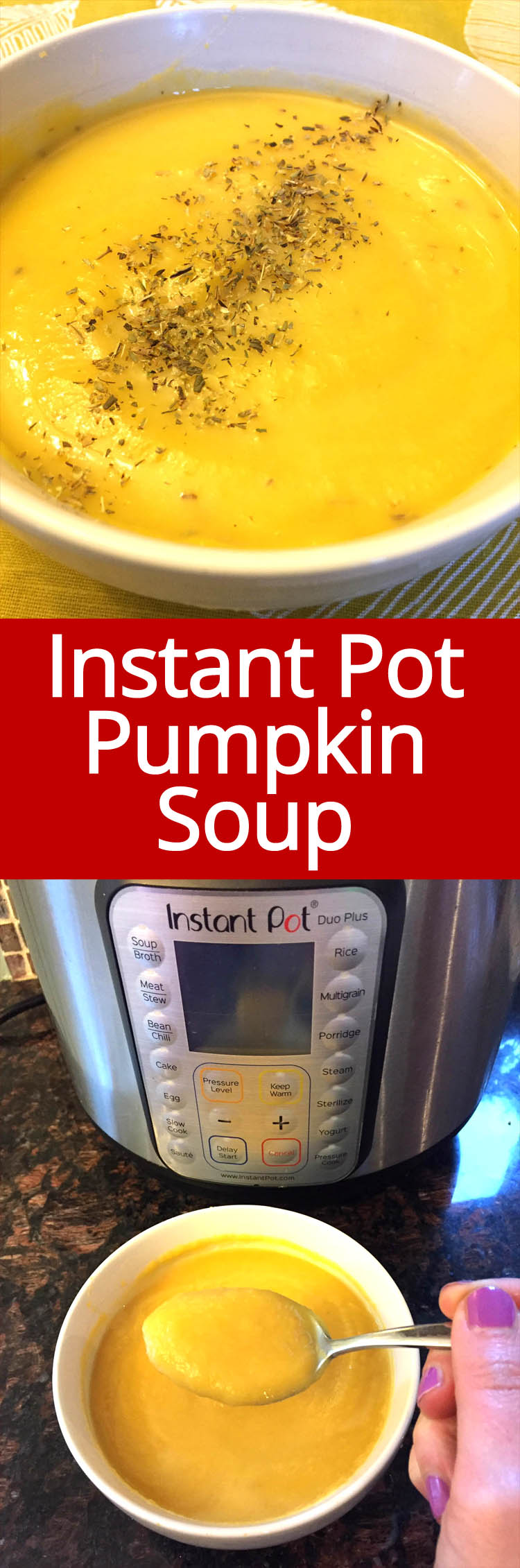 This Instant Pot pumpkin soup recipe is amazing! I love cream of pumpkin!