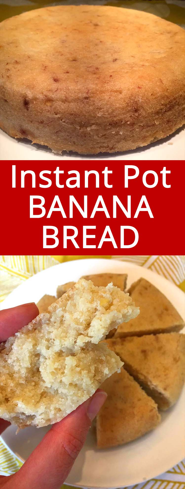 This Instant Pot banana bread is amazing! I've tried other Instant Pot banana bread recipes, but this one wins hands down.  This is the only recipe that has soft nice texture like regular banana bread!