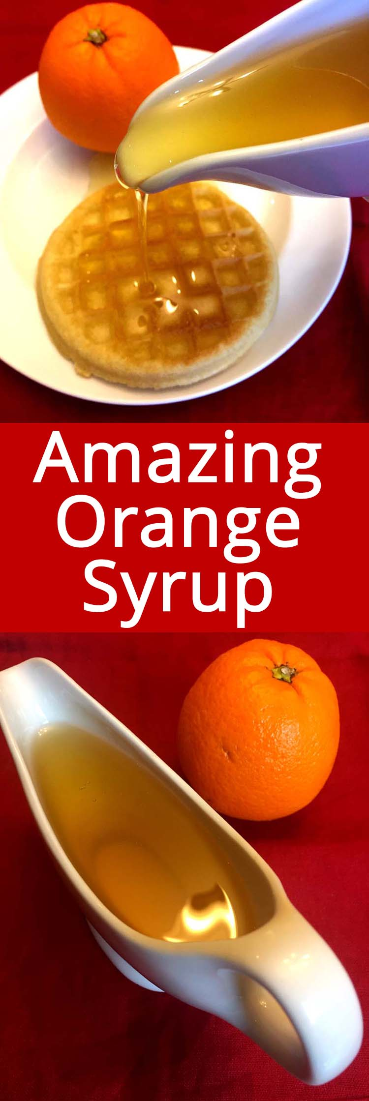 This homemade orange syrup is simply amazing!  It has such a deep citrus flavor, it's mouthwatering! It takes a simple pancake breakfast to a whole new level! Great for sweetening drinks too!