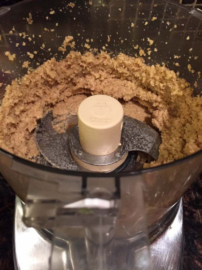 Food processor walnut crust
