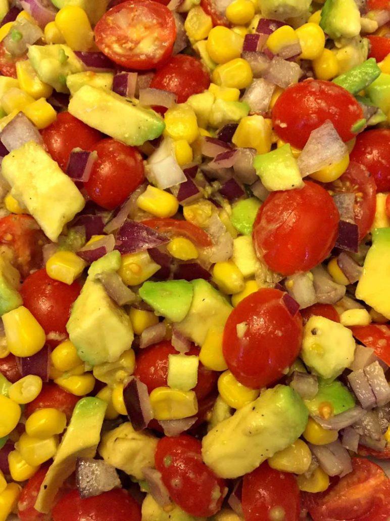 Healthy Avocado Corn Tomato Salad