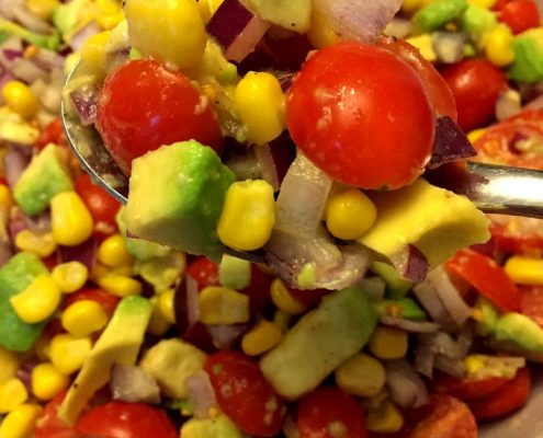 Corn Tomato Avocado Salad Recipe