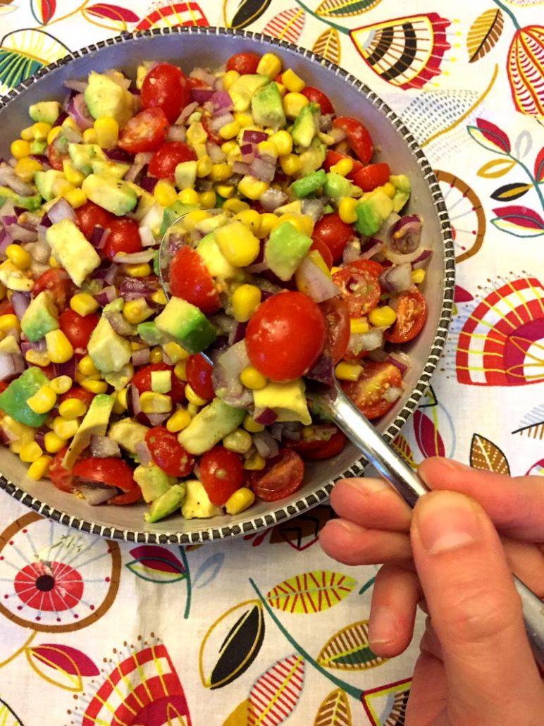 Easy Tomato Corn Avocado Salad Recipe