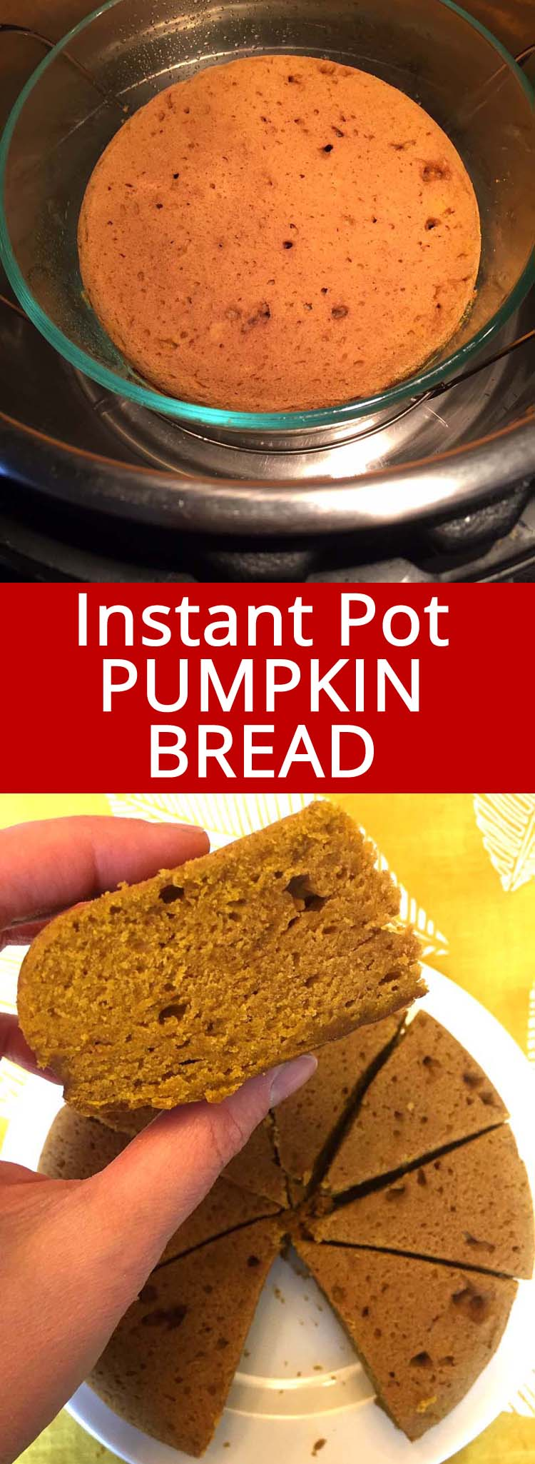 This Instant Pot pumpkin bread is amazing! So easy to make in the Instant Pot! I love this pumpkin bread!
