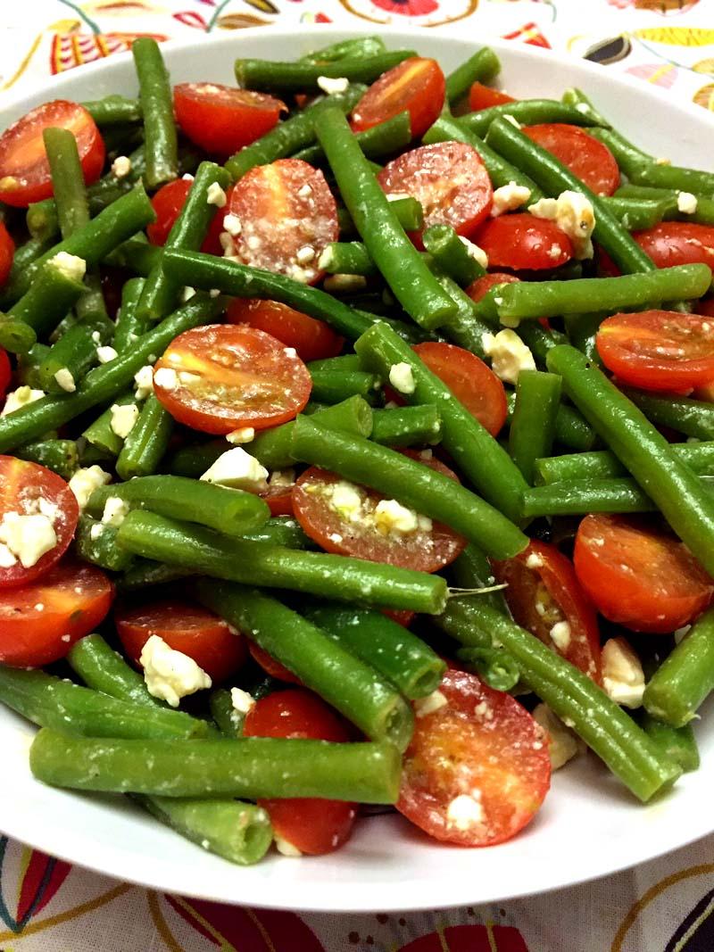 Green Bean Tomato Feta Salad Recipe