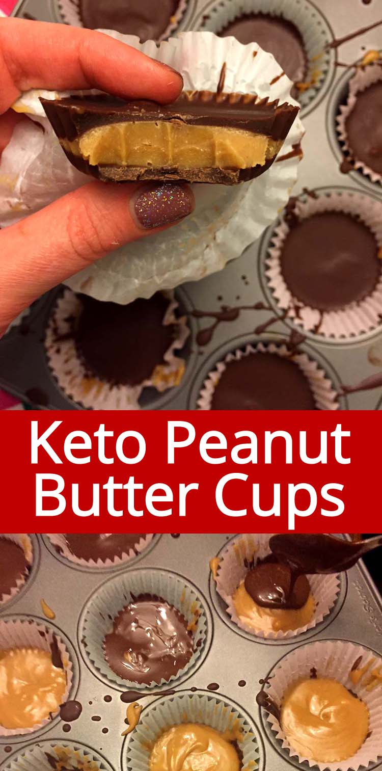 These keto peanut butter cups are amazing! I like these even better than Reese's!