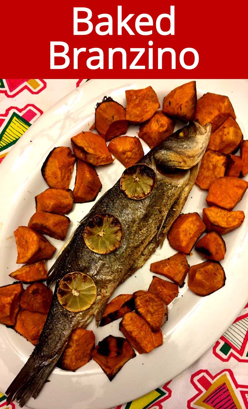 This whole baked branzino fish is amazing! So easy to make and so delicious! This is the most tender mouthwatering fish!