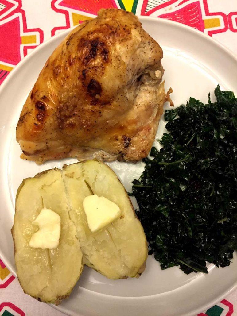 Bone-in skin-on chicken breast easy recipe