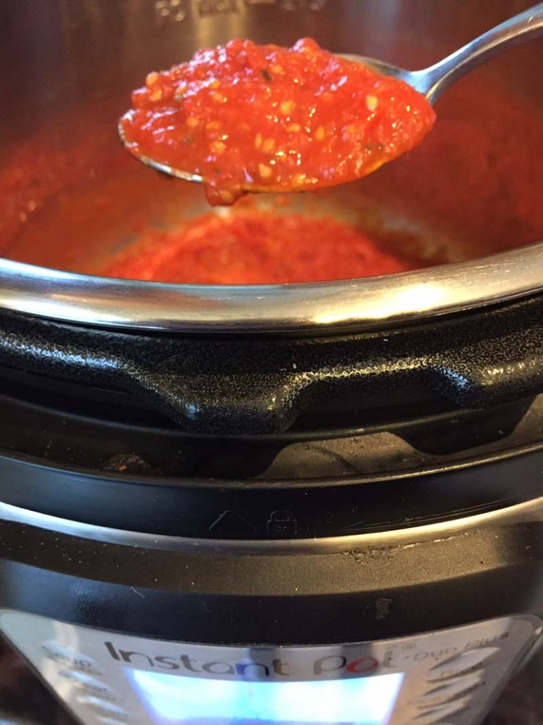 Instant Pot Tomato Sauce From Fresh Cherry Tomatoes