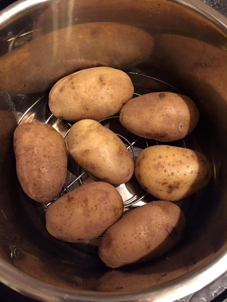 Instant Pot cooked whole potatoes