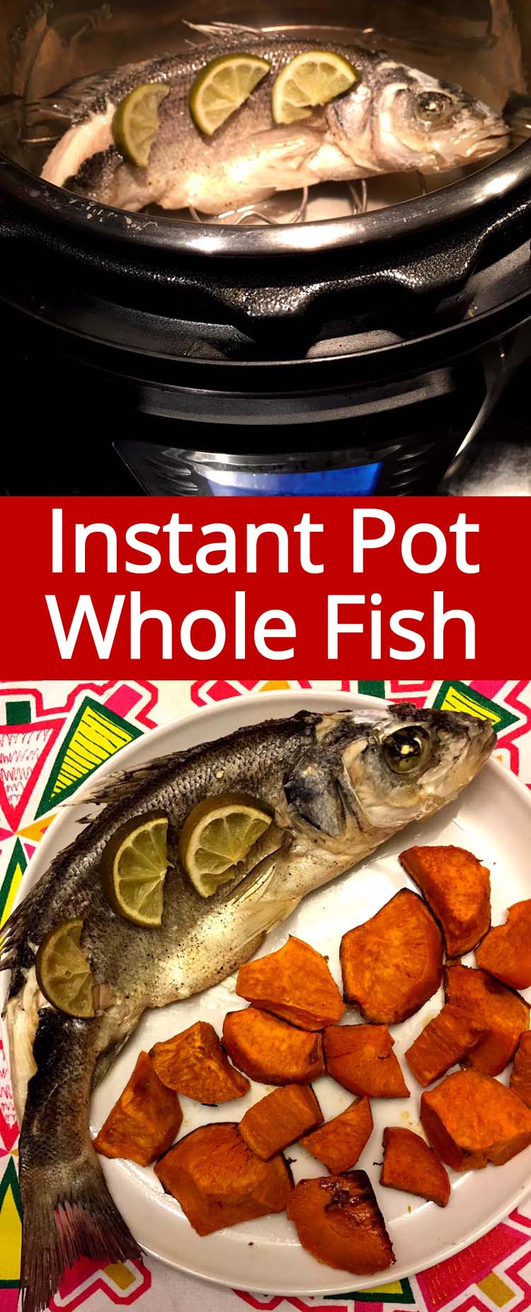 This Instant Pot whole fish is amazing! Cooking the whole fish has never been easier! Just throw the whole fish in the Instant Pot and press the button!