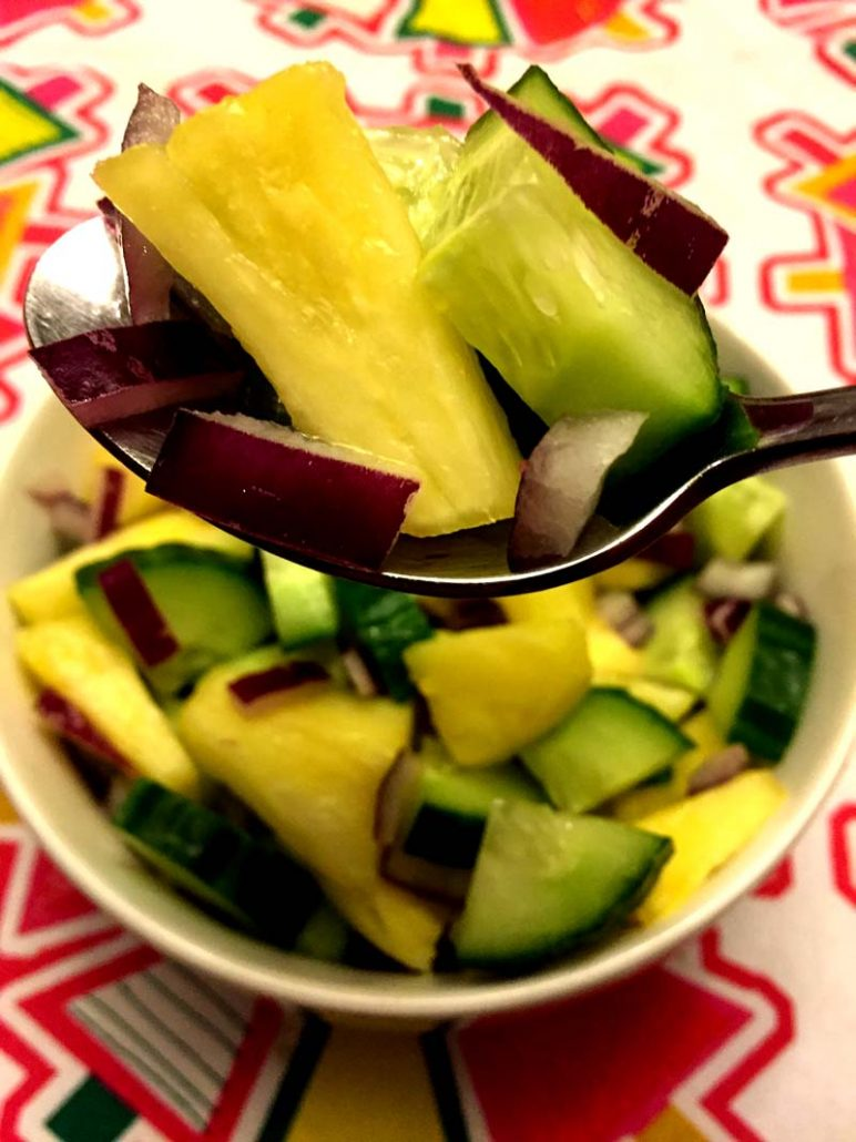 Easy Pineapple Cucumber Salad Recipe