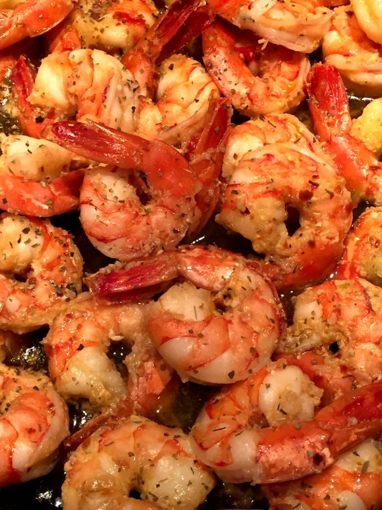 Spicy Garlic Shrimp With Olive Oil