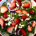 Strawberry Spinach Feta Salad