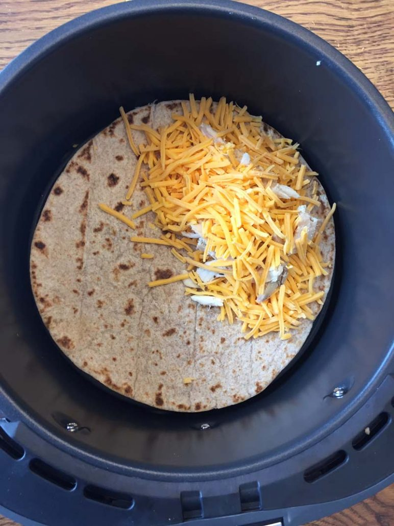 How to make air fryer quesadillas
