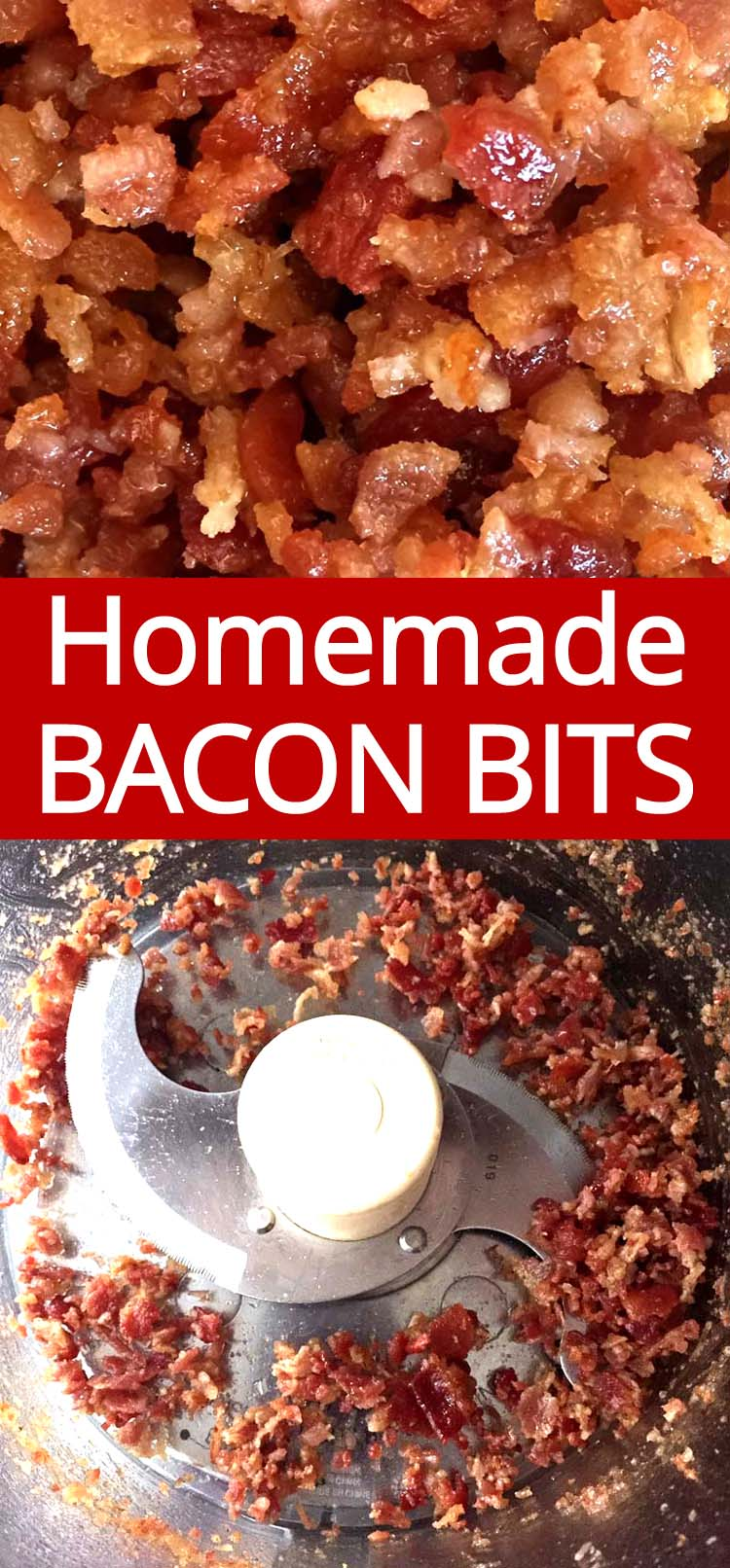 Once you try these homemade bacon bits made with real bacon, you'll never go back to packaged bacon crumbles!