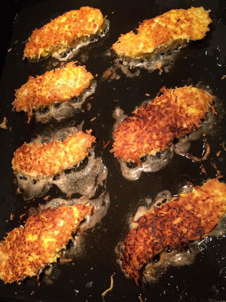 Low Carb Chicken Tenders With Coconut Crust