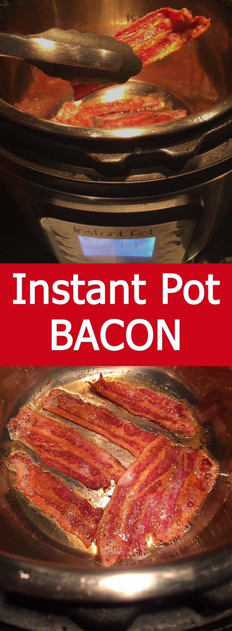 This Instant Pot bacon is so crispy! Cooking bacon in the Instant Pot is so easy and no splatters!