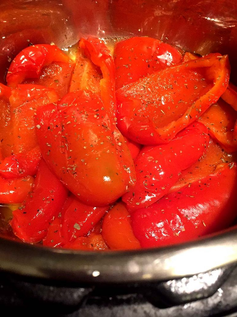 Instant Pot Italian Red Peppers