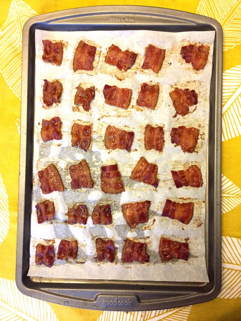 Crunchy Bacon Chips Baked In The Oven