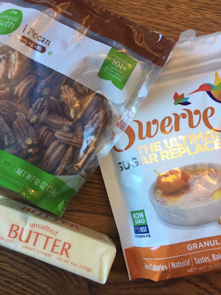 Ingredients For Keto Sugar-Free Candied Pecans