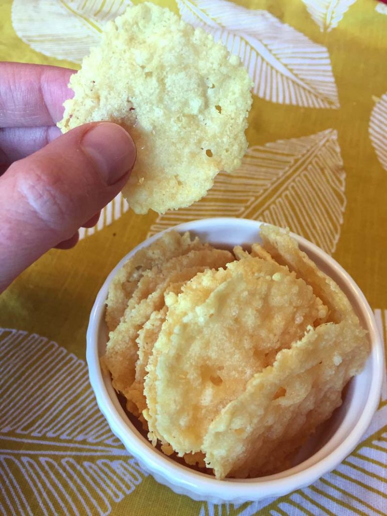 Gluten-Free Low-Carb Parmesan Crisps Recipe