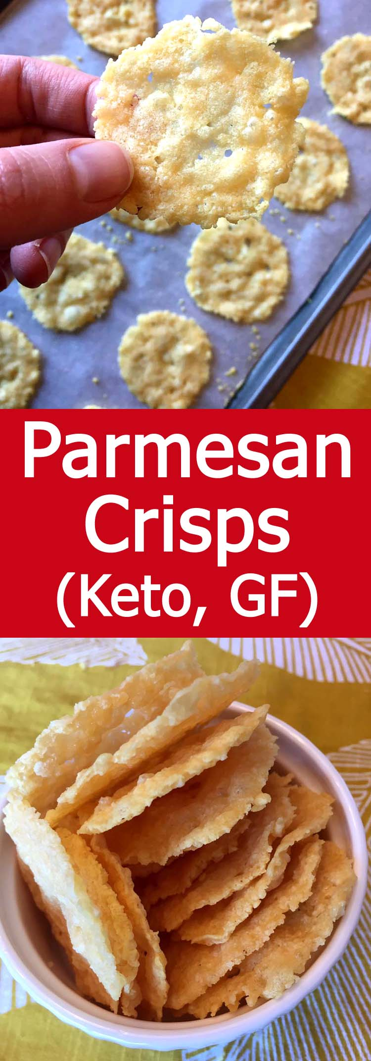 These baked Parmesan crisps are so addictive! Epic taste without the carbs! So easy to make, these keto Parmesan crisps are always a hit!