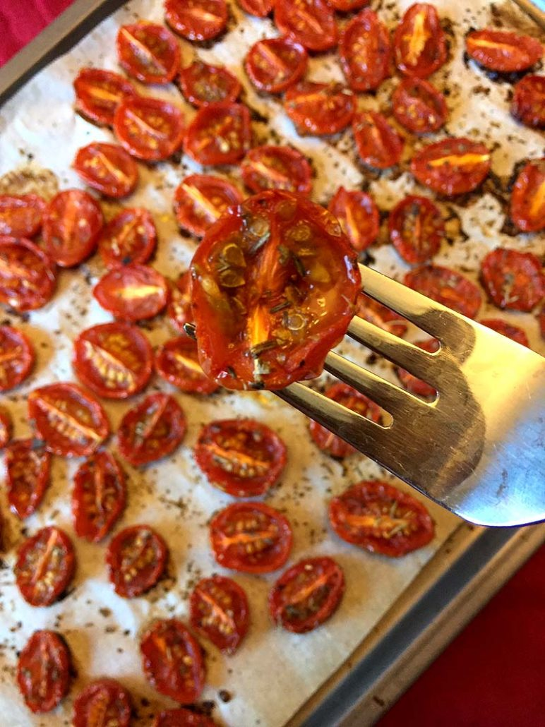 How to make oven roasted cherry tomatoes