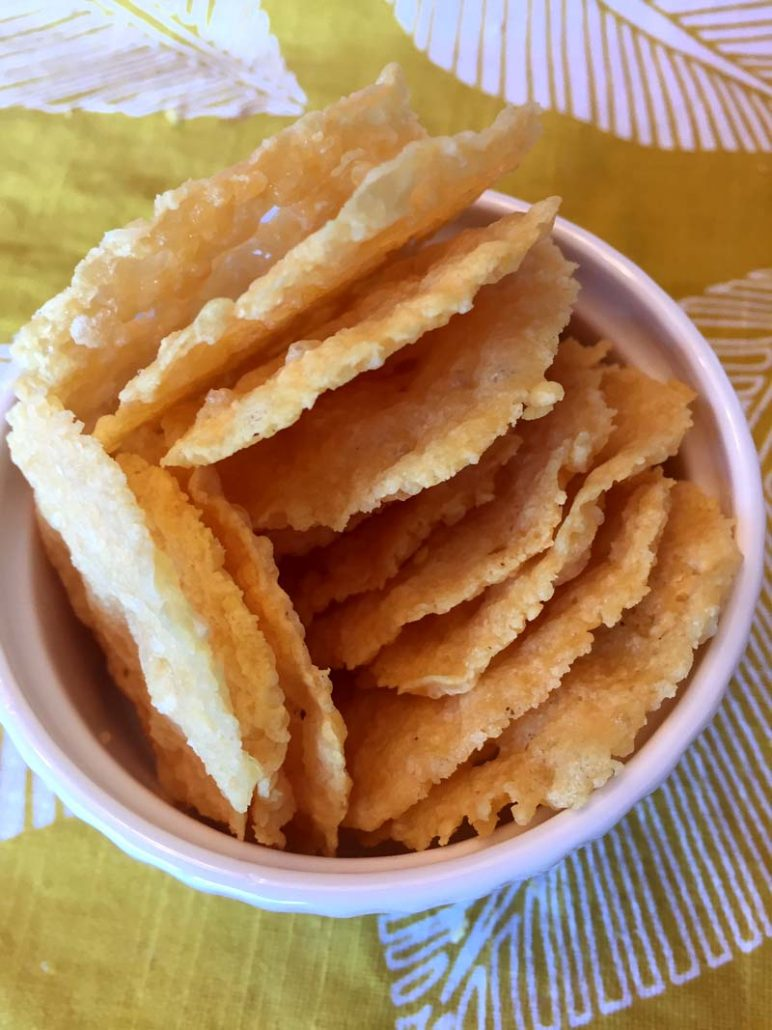 Keto Chips Made With Parmesan Cheese